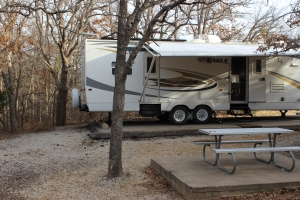 Our site, #66, at Mineral Wells State Park, TX